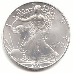 Uncirculated Silver Eagle 2001