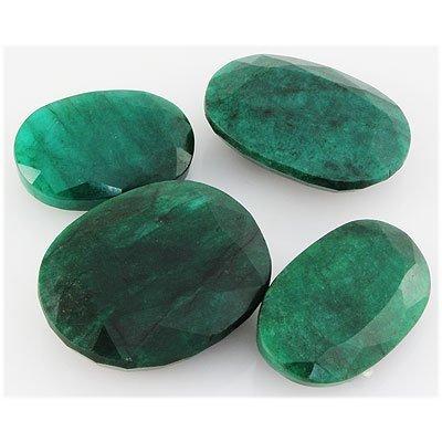 Emerald 494ct Loose Gemstone Mix Sizes Oval Cut
