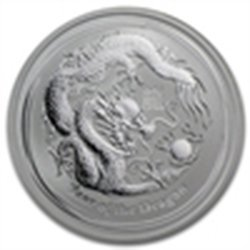 2012 1/2 oz Silver Australian Lunar Year of the Dragon