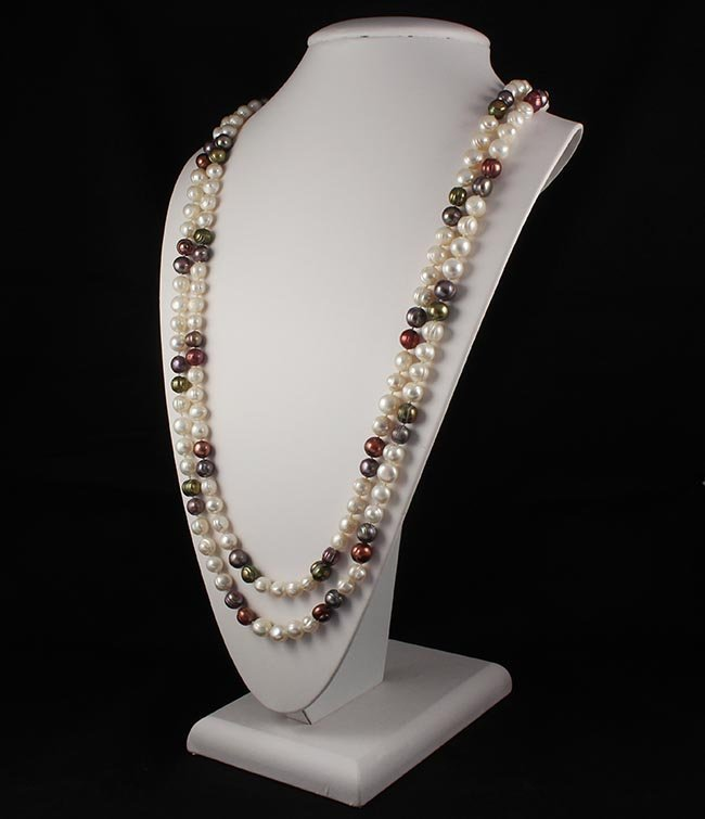 Handknotted Freshwater Pearl Long Necklace