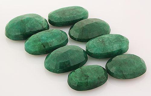281.64ctw Faceted Loose Emerald Beryl Gemstone Lot of 8