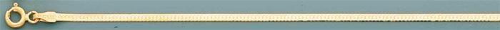 HERRING BONE 18in. 2.8 grs 14kt Y Gold