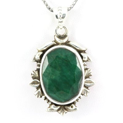 13.9g Decorative Sterling Silver Pendant Handcrafted w/