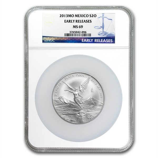 2013 2 oz Silver Libertad MS-69 NGC (ER) - Registry Set