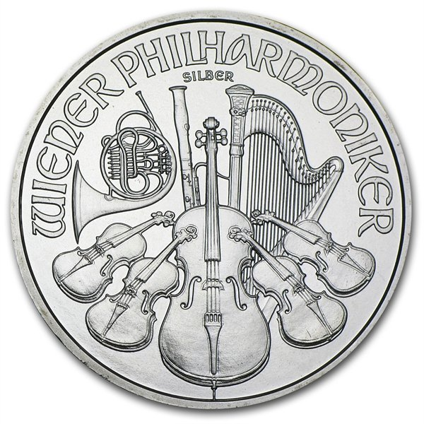 2008 1 oz Silver Austrian Philharmonic