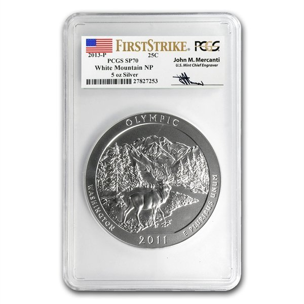 2013-P 5 oz Silver ATB - White Mountain SP-70 (FS) PCGS