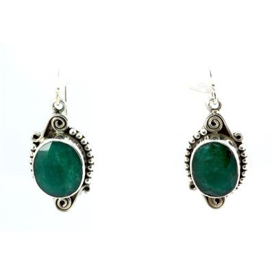 41ctw Classic Design Emerald Hook Earring