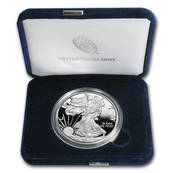 2000-P 1 oz Proof Silver American Eagle (w/Box & CoA)