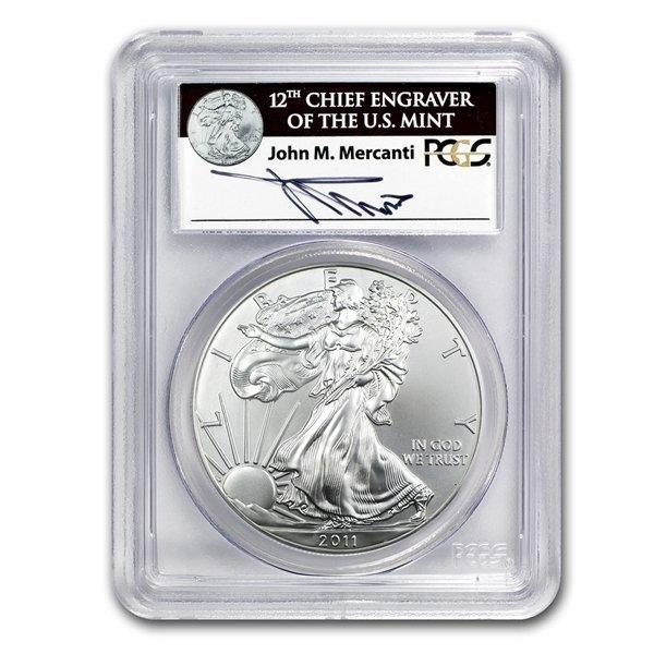 2011-W Silver Eagle 25th Anniversary MS-69 PCGS John Me