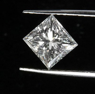 Princess 0.51 Carat Brilliant Diamond F VS2