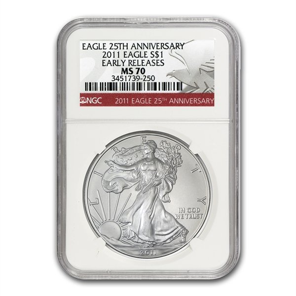 2011 (W) Silver Eagle NGC MS-70 -West Point Mint Star L