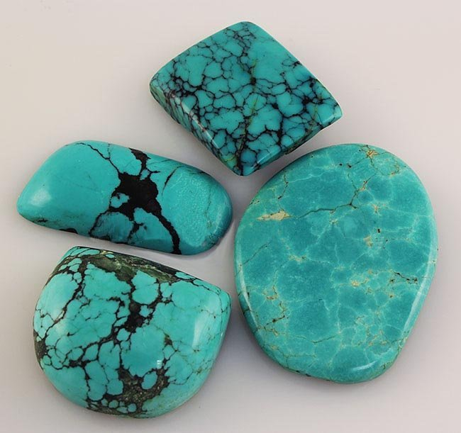 Natural Turquoise 199.60ctw Loose Gemstone Lot of 5