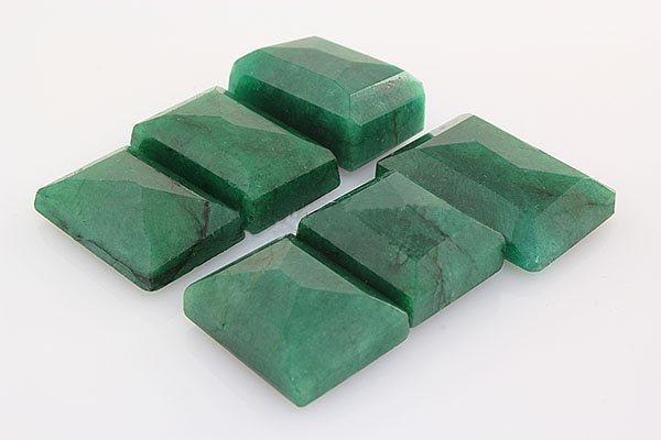 191.94ctw Faceted Loose Emerald Beryl Gemstone Lot of 6