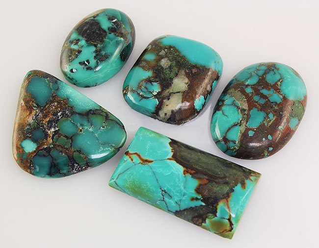 Natural Turquoise 124.00ctw Loose Small Gemstone Lot of