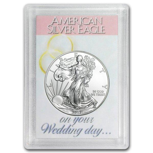 2013 1 oz Silver Eagle in Wedding Day Design Harris Hol