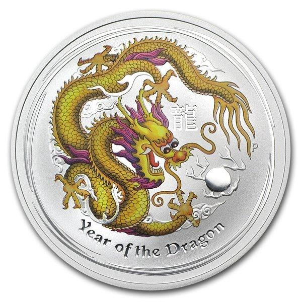 2012 1 oz Silver Yellow Dragon (Melbourne ANDA Coin Sho