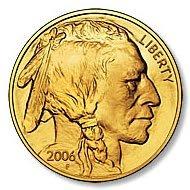 One Ounce 2006 Gold Buffalo Coin Uncirculated