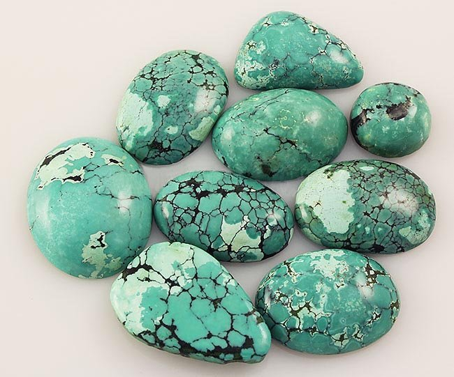 Natural Turquoise 185.03ctw Loose Small Gemstone Lot of