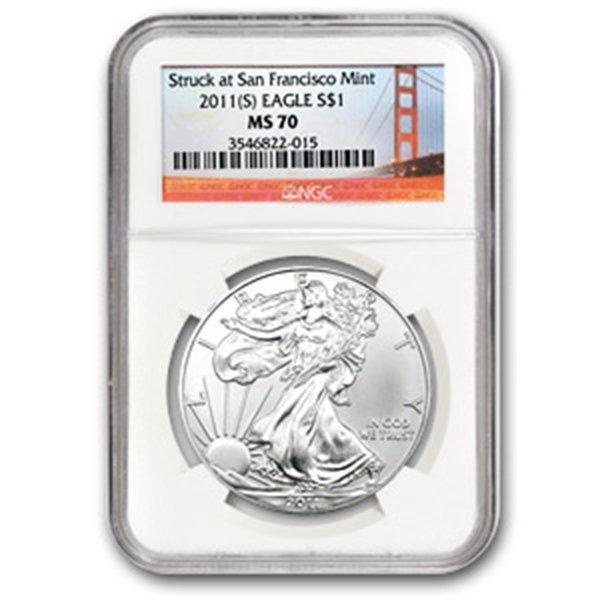 2011 (S) Silver Eagle NGC MS-70 San Francisco Golden Ga