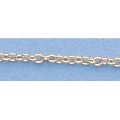 "Pure Gold 16"" 14k Gold-Yellow 1.5mm Oval Link Chain"