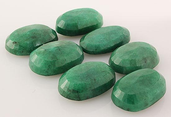 191.11ctw Faceted Loose Emerald Beryl Gemstone Lot of 7