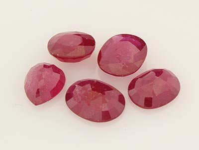 Mix Loose Gemstone Faceted Ruby Corrundum
