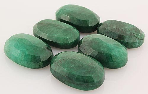 250.63ctw Faceted Loose Emerald Beryl Gemstone Lot of 6