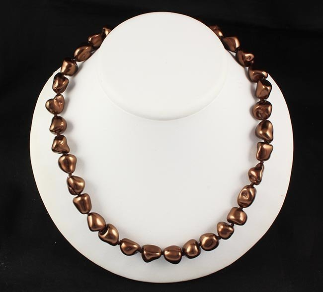 Keshi Chocolate Pearl Handmade Necklace