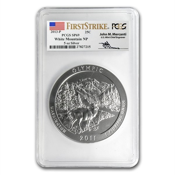 2013-P 5 oz Silver ATB - White Mountain SP-69 (FS) PCGS
