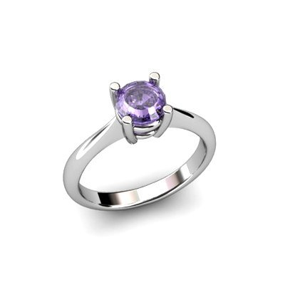 Tanzanite 1.00ctw Ring 14kt White Gold