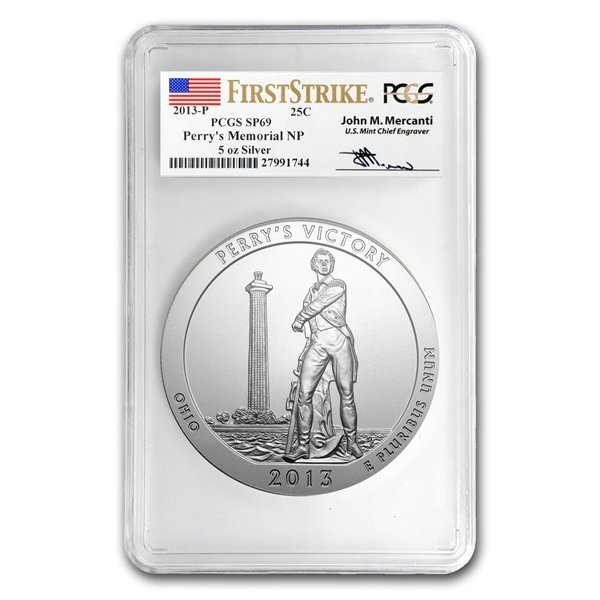 2013-P 5 oz Silver ATB - Perry's Victory SP-69 (FS) PCG