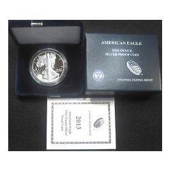 2013-W (Proof) Silver American Eagle (w/Box & CoA)