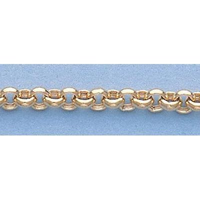 """Pure Gold 16"""" 14k Gold-Yellow 3.3mm Rolo Chain 5.3g"""