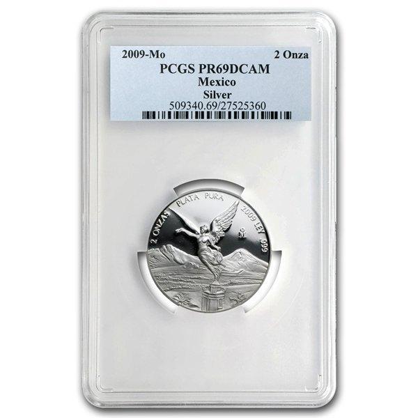2009 2 oz Silver Mexican Libertad PR-69 PCGS