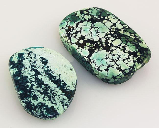 Natural Turquoise 147.64ctw Loose Gemstone 2pc Big Size