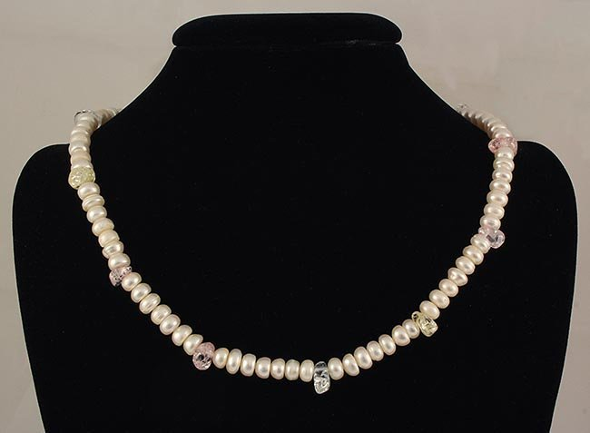 WHITE FRESHWATER PEARL 273.97CTW SEMI-ROUND NECKLACE
