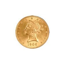 $5 Liberty Almost Uncirculated Early Gold Bullion