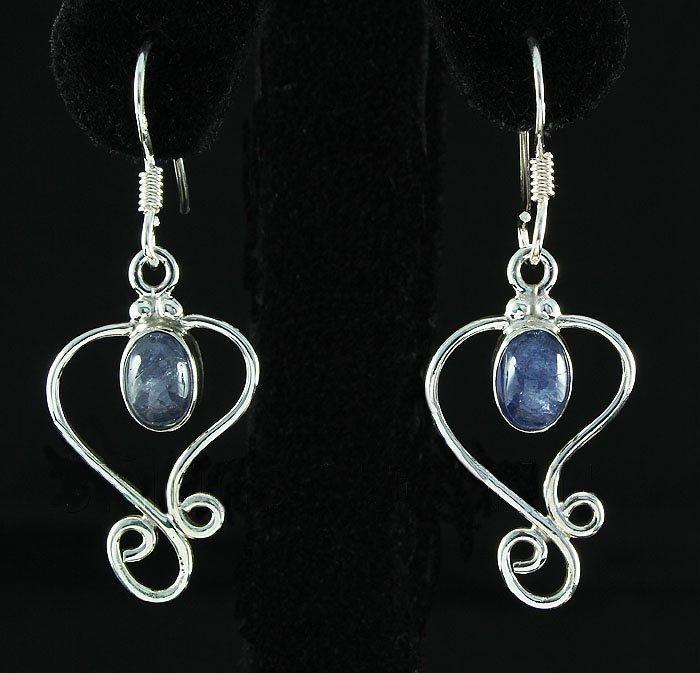 Cabochon Tanzanite 17.53ctw Dangling Hook .925 Earring