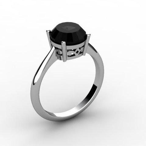 Black Diamond 2.00 ctw Ring 14kt White Gold