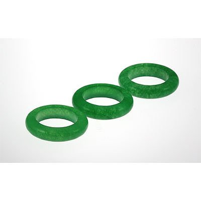 Natural Simple Green Jade 33.72ctw Band Ring Lot of 3