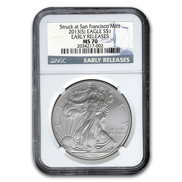 2013 (S) Silver American Eagle MS-70 NGC (Early Release