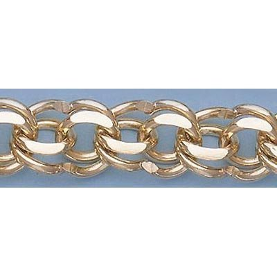 """Pure Gold 7.25"""" 14kt Italian Gold-Yellow 11.6mm, Charm"""