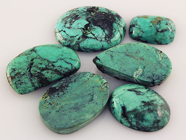 Natural Turquoise 133.64ctw Loose Small Gemstone Lot of