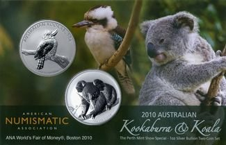 2010 Kookaburra and Koala ANA Boston Money Fair
