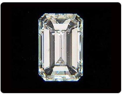 EGL Certified Diamond Emerald 3.34ctw I,VVS2