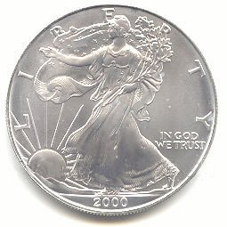 Uncirculated Silver Eagle 2000