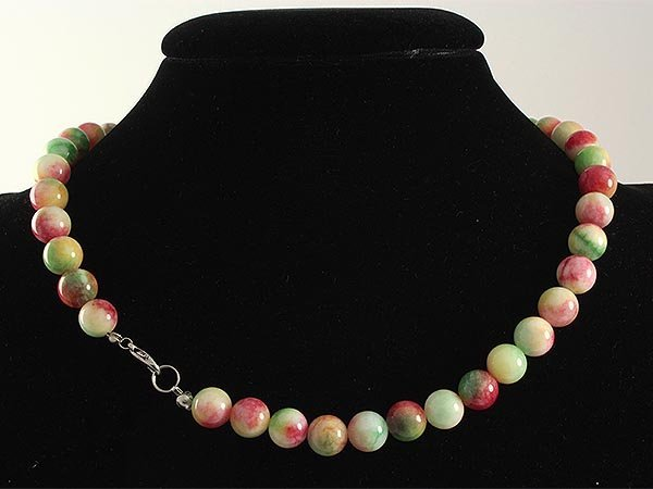 Natural Rainbow Jade 316.00ctw Necklace with Metal Lock