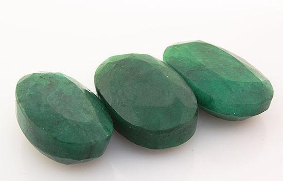 197.18ctw Faceted Loose Emerald Beryl Gemstone Lot of 3