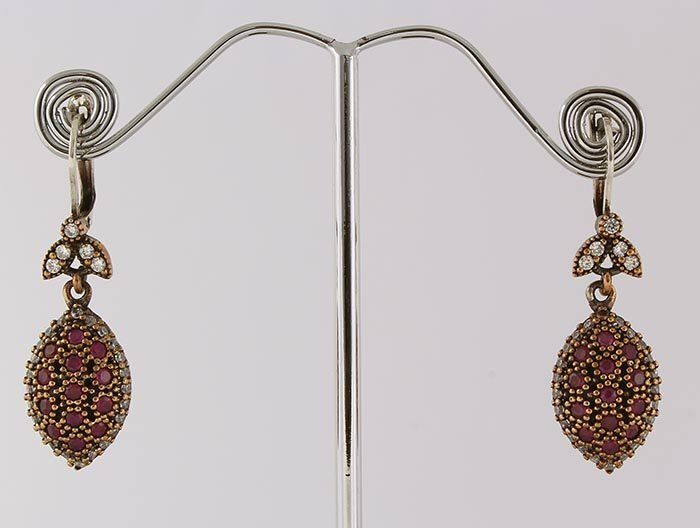 Natural Stone Antique Design Dangle Earring