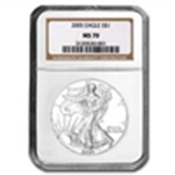 2005 Silver American Eagle (NGC MS-70)
